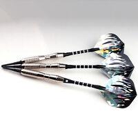 3PCS Darts Arrows Set Flight Brass-Soft Shafts Tip Bar Darts 18g New Z6W6
