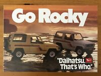1986 Daihatsu Rocky original Australian sales brochure (Writing)