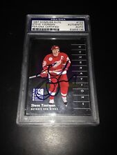 Steve Yzerman Signed 1997-98 Donruss Elite Red Wings Card PSA Slabbed #83855136