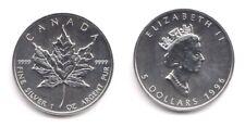 1996 Canada 1 Oncia OZ Argento Foglia Acero Fior di Conio Unc