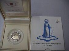 VATICANO 2017 2 EURO commemorativo fondo a specchio FS Apparizioni di Fatima