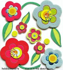 EK SUCCESS JOLEE'S BOUTIQUE 3-D GLITTER STICKERS - FLORAL - SEQUIN FUN FLOWERS