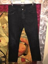 SOLD OUT!!! DOLCE & GABBANA BLACK-FIT TAPERED JEANS IT48 MSRP $695