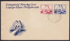 DDR FDC 282 - 283 mit SST Leipzig Petershof 1951, frist day cover
