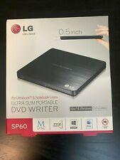 LG Storage GP60NB50 External Slim DVDRW 8x- Black