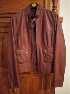 La redoute Tan Brown Leather Jacket BNWOT Size 18 16
