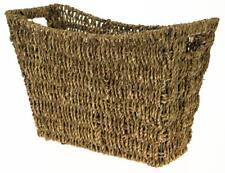 Vintage Retro Seagrass Magazine Newspaper Holder Storage Basket