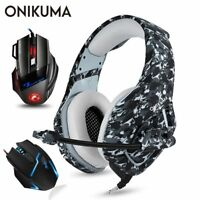 ONIKUMA PS4 Headset Casque PC Gamer Bass Gaming Headphones with Microphone +