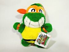 """Teenage Mutant Ninja Turtles MichaelAngelo Plush Doll Japan Takara 1992 Tag 6.5"""""""