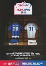 PLAY OFF FINAL 2011 CHAMPIONSHIP READING v SWANSEA MINT PROGRAMME