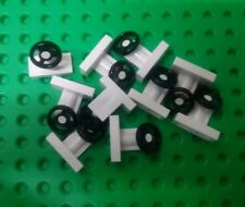 *NEW* Lego White Steering Wheels for Cars Space Ships Vehicles Bulk - 10 pieces