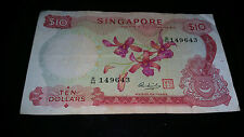 Singapore Orchid $10 note