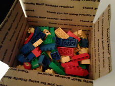 2.5 lbs BUILDING BRICKS 130+ blocks duplo compatible by Tyco WASHED