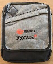 """Leeds Graphite 11"""" Branded Tablet Bag adjustable strap with 3 pockets"""