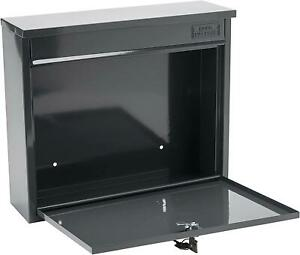 Burg Wachter ELEGANCE Lockable Post Mail Letter Box Wall Mounted Anthracite