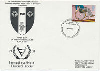 GB 1981, International Year of Disable People 22 P with rare Special Handstamp