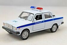 """VAZ 2107 """"LADA"""" USSR RUSSIAN POLICE RARE Collection Model Car 1/34 scale"""
