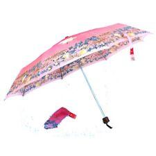Regenschirm rosa geblümt Tasche kurz hand-aufziehbar klappbar Laura Biagiotti