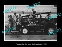 OLD LARGE HISTORIC PHOTO OF PINNAROO SA, THE FIRE BRIGADE TRUCK c1950