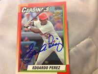 Eduardo Perez 2016 Topps Archives Fan Favorites Certified On Card Autograph Auto