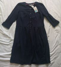 Boden Women's Navy Button Up Dress Size 10 Petite New With Tags