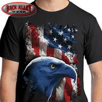 AMERICAN ICON Eagle w/ Flag T-SHIRT Tee ~ USA Pride ~ Military Patriot