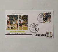FRANCOBOLLI--ITALIA  1996--BUSTA--JUVENTUS  CAMPIONE  INTERCONTINENTALE-