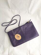 burlington handbags nwt vintage purple clutch leather zipper shoulder strap