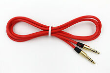 RED 3.5mm Audio Cable AUX-In Cord for JBL Micro II On Tour Ibt Portable Speaker