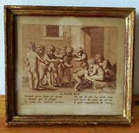 """""""Le Frappe Main"""" Gravure originale de Claudine Bouzonnet Stella 1636 - 1697"""