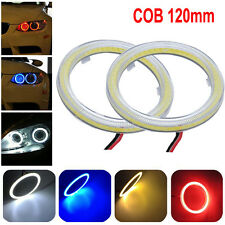2pcs White 120MM COB LED Angel Eyes Car Headlight Halo Ring Warning Lamps Light