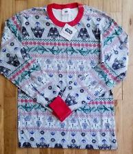 e5210baf31 Hanna Andersson Star Wars Fair Isle Long John Pajama Shirt Men M Women L