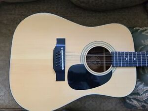 Vintage 1980's Kiso Suzuki WT-150 12 String Guitar D45 Style MIJ Very Clean,case