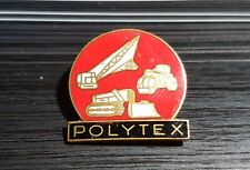 Polytex BROCHE ESMALTADO baumaschinen23x22mm ANTIGUO + ORIGINAL