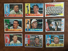 1960 Topps Baseball Lot 225 of 572 Most VG-EX, Team Cards, Rookies +++++