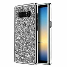 SAMSUNG GALAXY NOTE 8 PLATINUM COLLECTION BUMPER CASE ELECTROPLATED FRAME SILVER
