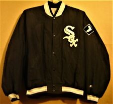 CHICAGO WHITE SOX BLACK  JACKET BY STARTER IN SIZE XL