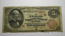 $5 1882 Galion Ohio OH Brown Back National Currency Bank Note Bill! #1984 RARE