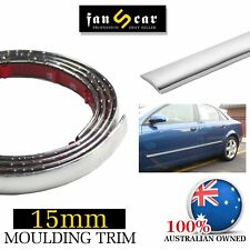 Chrome Molding Cover Moulding Trim Car Body Door Window Side Decorate 4.5Mx15mm