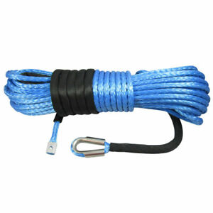 5MM X 15M Dyneema SK78 Winch Rope - Synthetic Boat ATV Recovery Cable Strap Tow