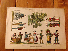 SCARCE A CUT-OUT PAPER DOLLS SHEET OF FIGURES FIGUREN BLATT VIII VINTAGE RARE