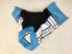 XS Women's Hotel Domestique Hincapie Velocity Plus Cycling Short Blue CLOSEOUT