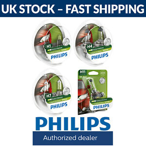 Philips Longlife EcoVision Car Headlight Bulbs - H1 H4 H7 H11