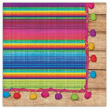 FIESTA SERAPE LUNCH NAPKINS PARTY TABLE DECORATION MEXICAN 16 X 2PLY MEXICAN