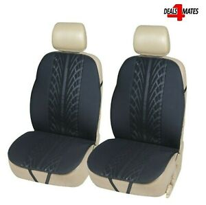 2 Pcs Black Front Car Seat Covers Protectors Support Pads For Mini Cooper Bmw
