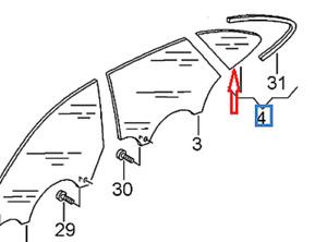 Audi A5 8T Rear Left Side Window 8T8845299BNVB NEW GENUINE