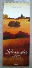 Sehnsucht 2009 – Kunst, Maler, Hans Paus, Wandkalender, ca. 29x69 cm - Rarität