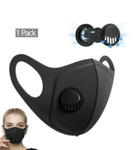 Breathable Face Mask Air Flow Valve Reusable Washable Face Safety Protection