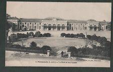 Vintage 1925 France Postcard, Marmande (L et G) La Gare et Son Square - Station