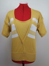 Vintage Gucci Yellow Striped Lightweight Knitted Sweater Size 42 M